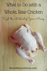 how to bake a raw chicken