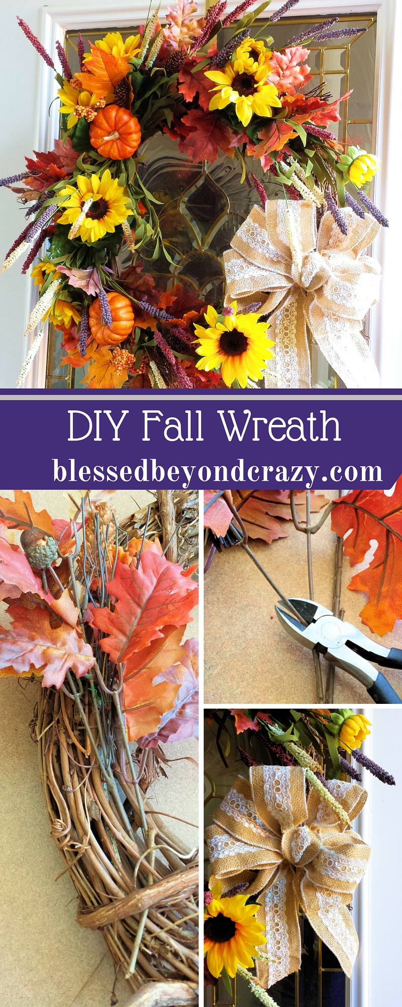 Easy diy fall wreath for Easy diy fall crafts