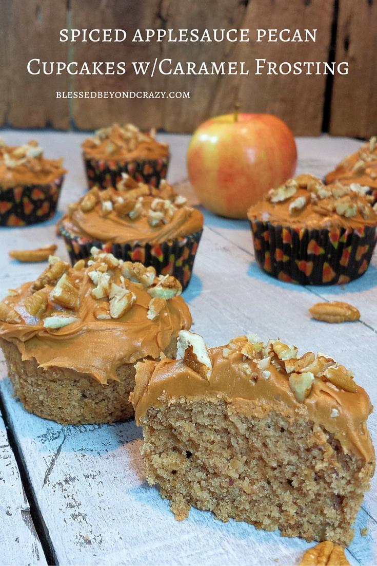 Spiced Applesauce pecan Cupcakes 1