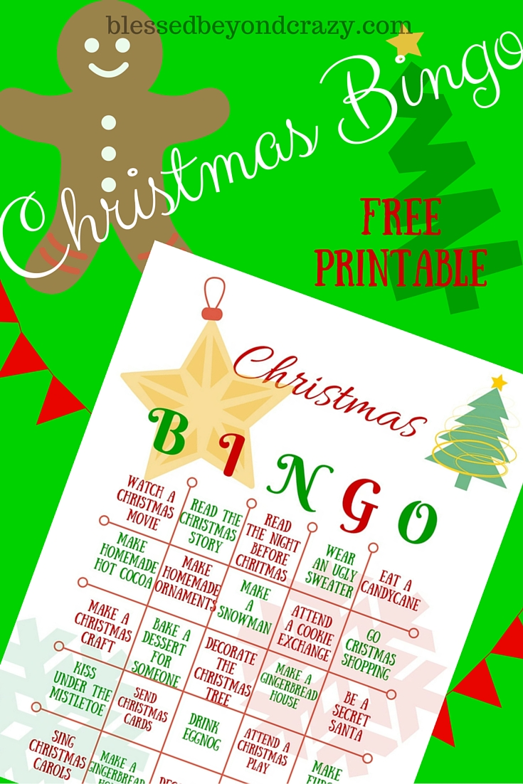 picture about Printable Christmas Bingo named Xmas Bingo (Absolutely free Printable) -