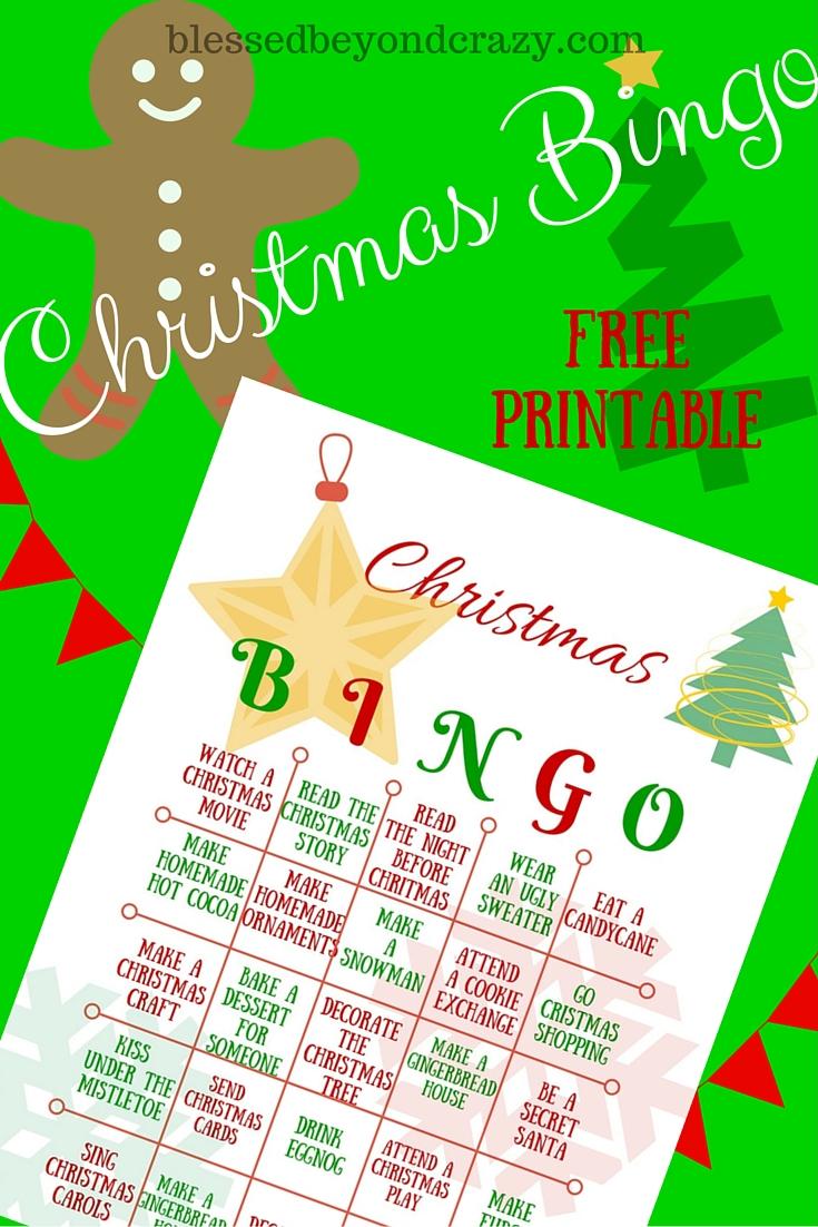 print your christmas bingo card christmas bingo - Free Printable Christmas Bingo Cards