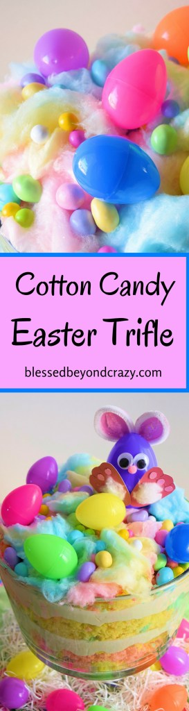 Cotton Candy Easter Trifle