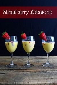 strawberry vanilla zabaione
