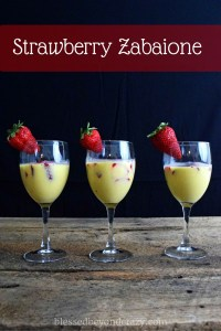strawberry vanilla zabaione
