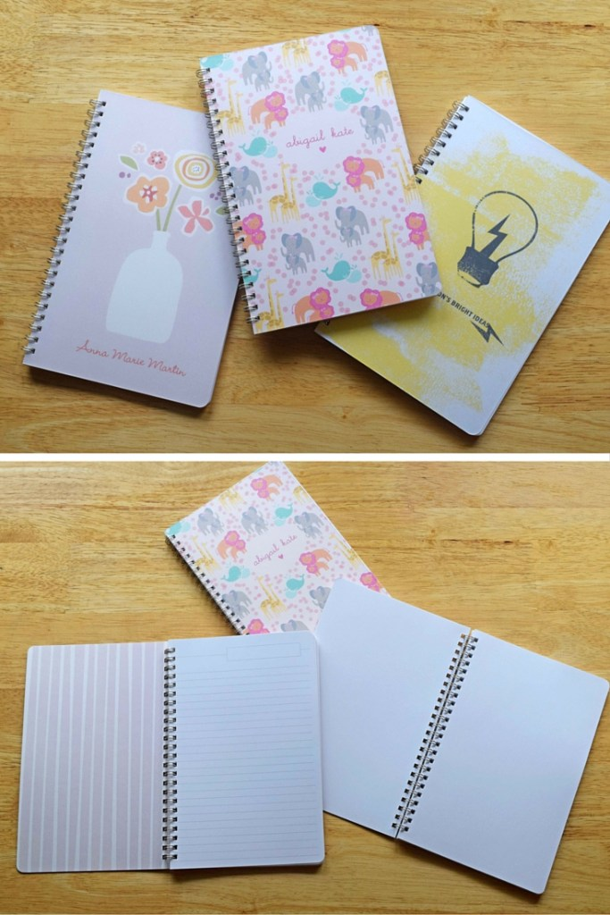 minted personalized notebooks