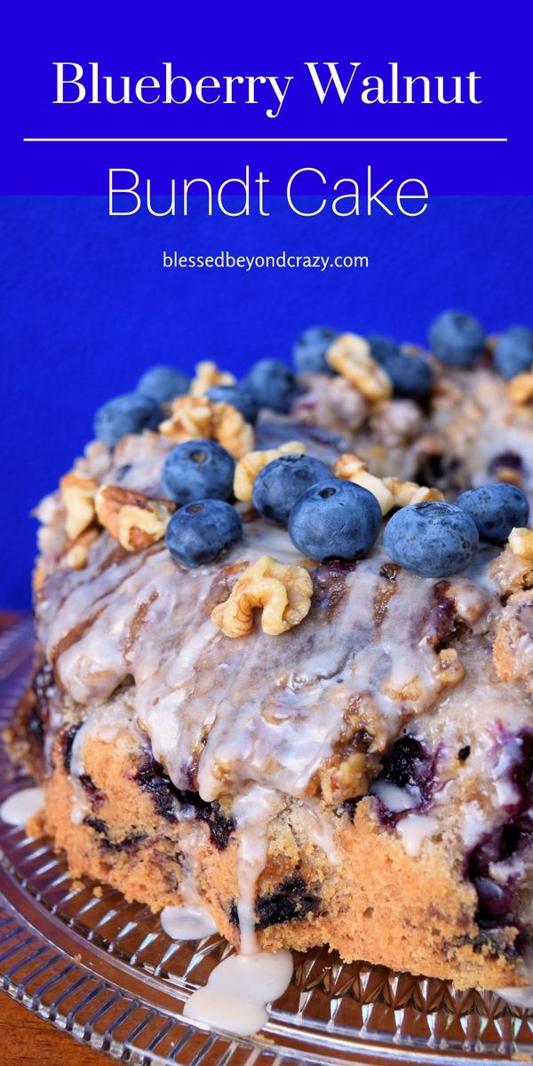 Blueberry Walnut Bundt Cake