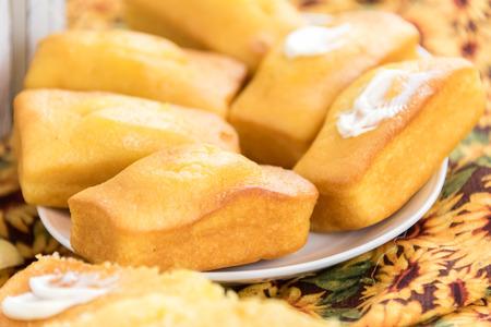 fresh oven baked loaf of cornbread