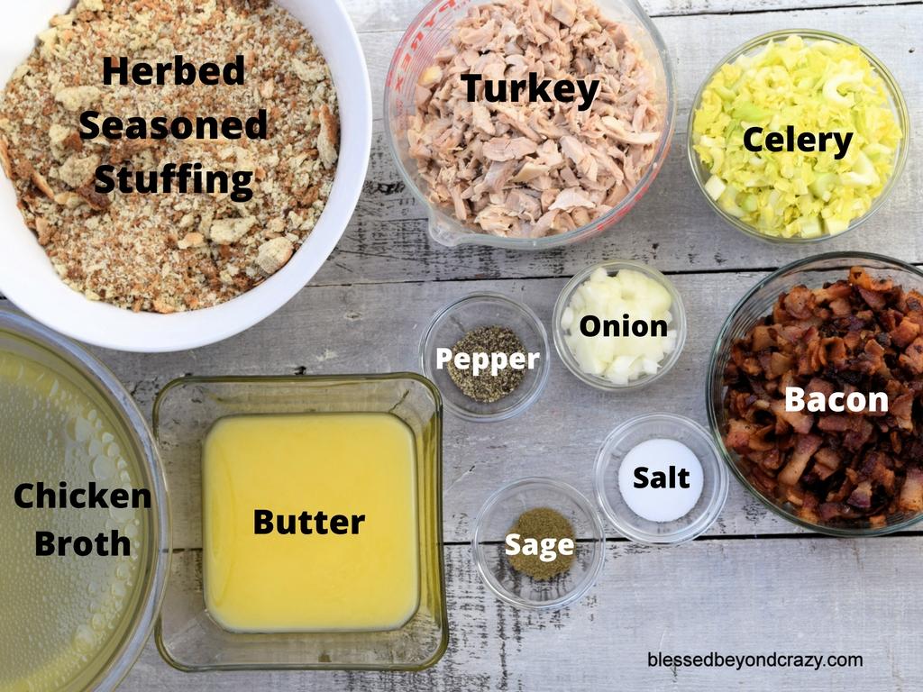 thanksgiving-stuffing ingredients