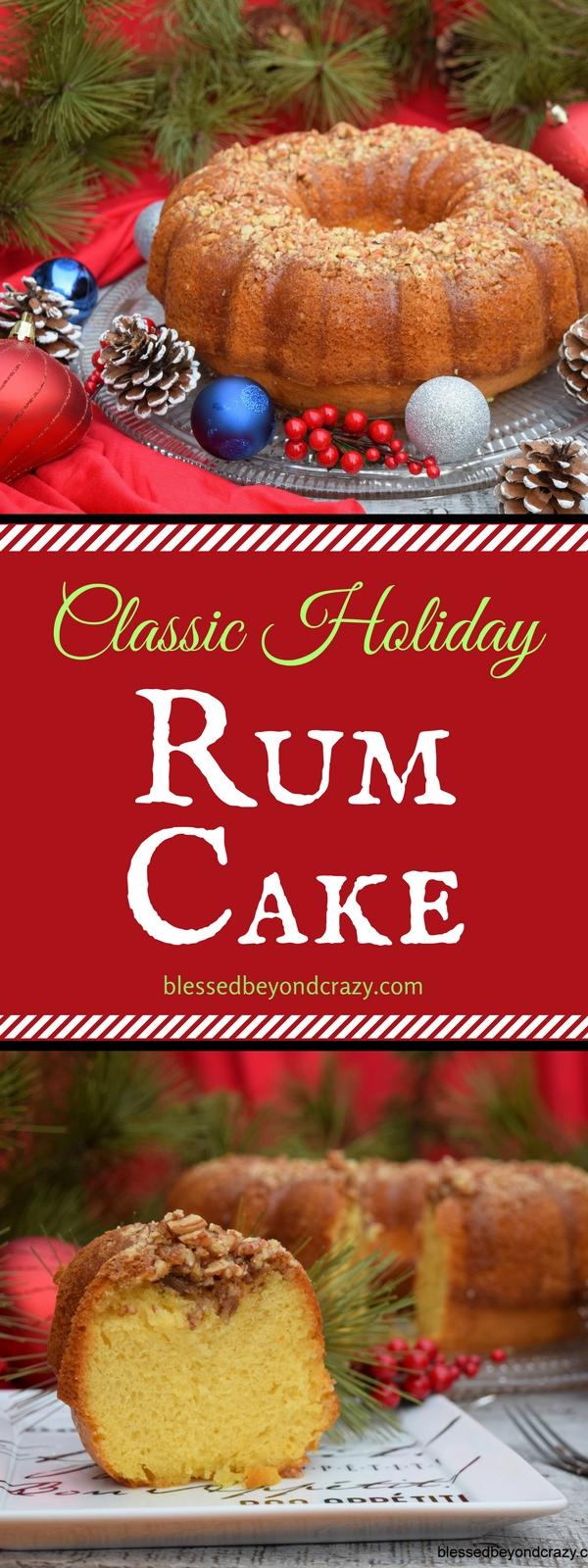Classic Holiday Rum Cake -