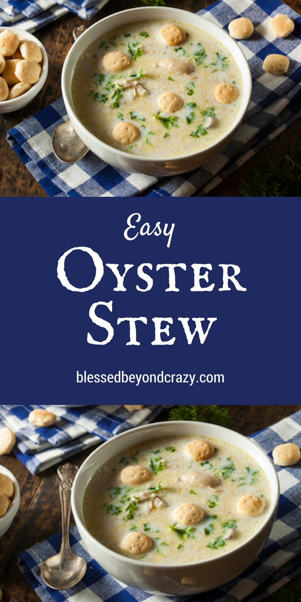 Easy Oyster Stew Recipe