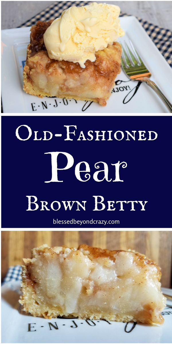 Old-Fashioned Pear Brown Betty