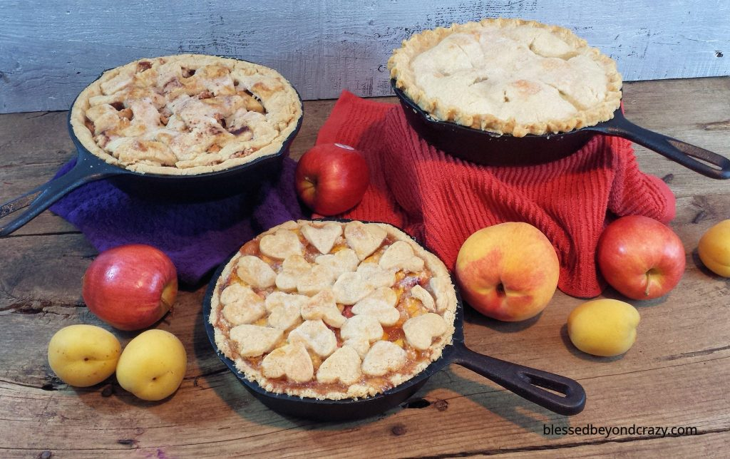 Rustic Cast Iron Skillet Peach Pie