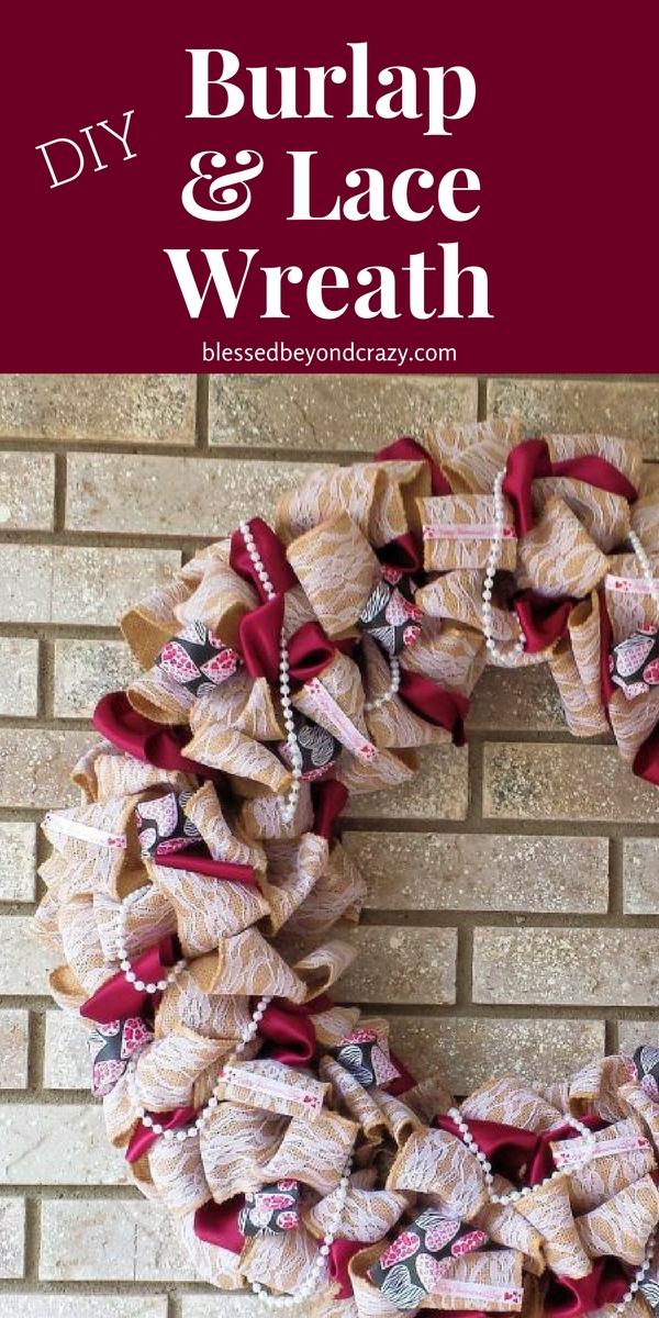 DIY Burlap and Lace Wreath