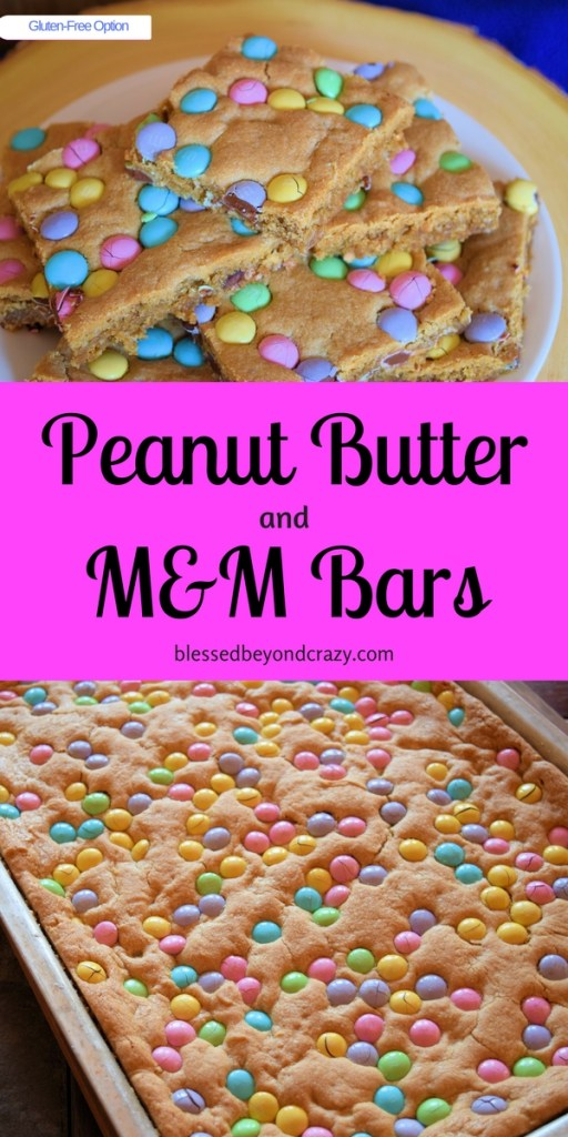 Peanut Butter and M&M Bars