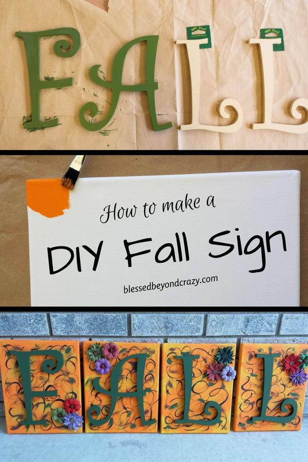 DIY Fall Sign
