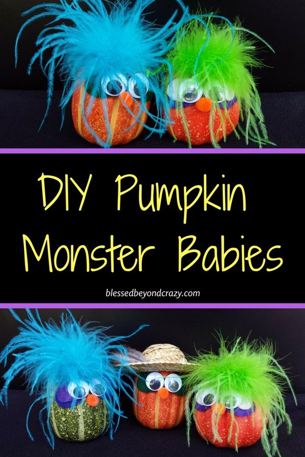 DIY Pumpkin Monster Babies