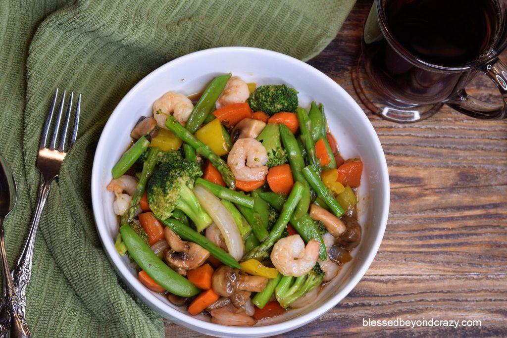 Low-Carb Veggie Shrimp Stir-Fry