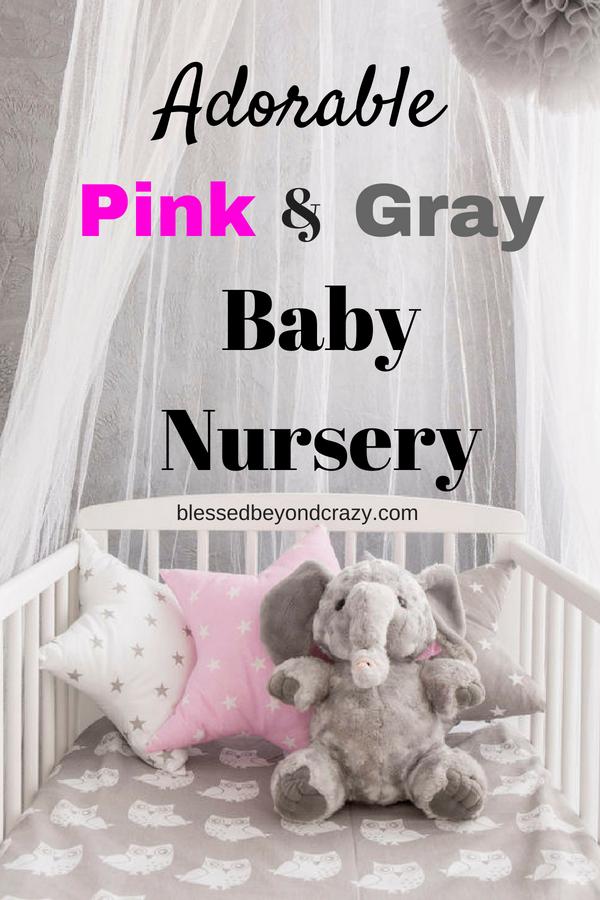 Adorable Pink and Gray Baby Nursery