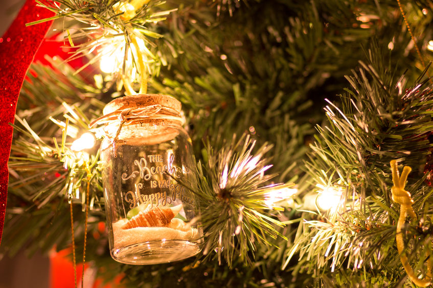 Mason jar ornament