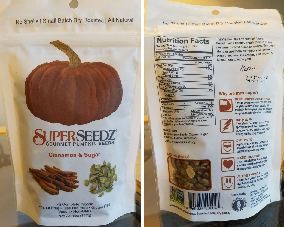 SuperSeedZ Gourmet Cinnamon & Sugar Pumpkin Seeds