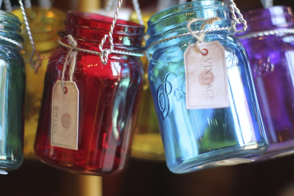 colored canning jars are considered better for canning foods because they block out more light which helps food retain its flavor and nutritional value