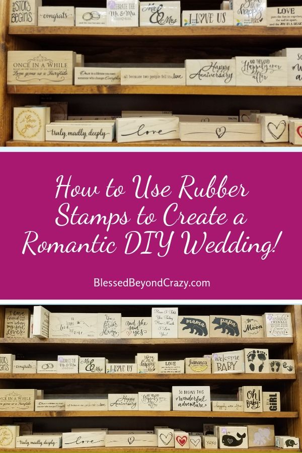 Wedding Rubber Stamping.How To Use Rubber Stamps To Create A Romantic Diy Wedding