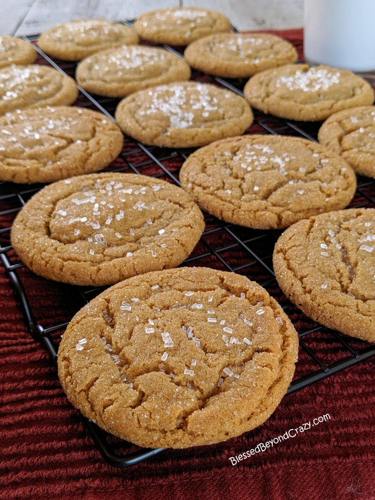 Quick and Easy Ginger Snap Cookies