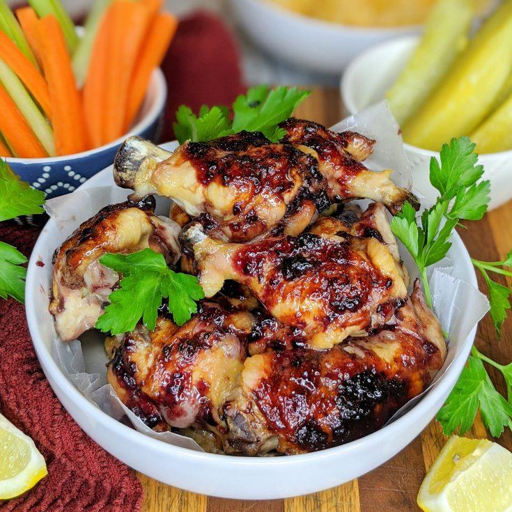 Spiced Blackberry Chicken Wings