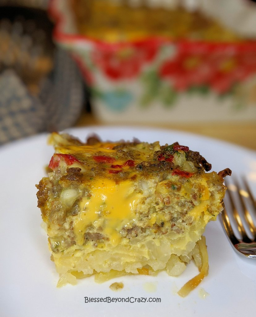 Individual Serving of Simple Gluten-Free Breakfast Casserole