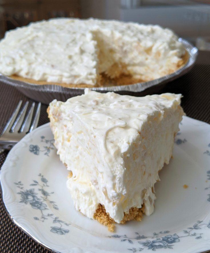 No-Bake Pineapple Cream Cheese Pie (Gluten-Free Option)