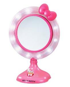 hello kitty lighted makeup mirror