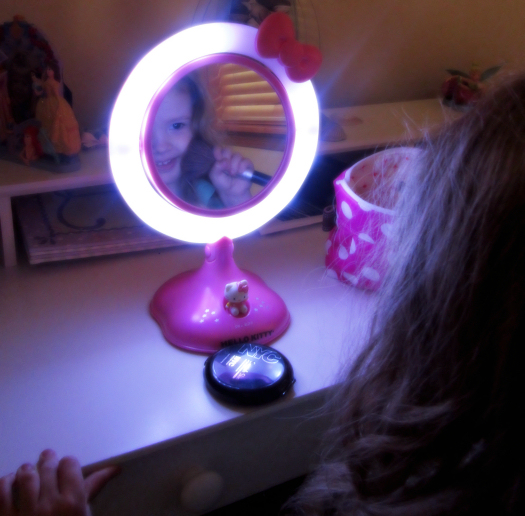Hello Kitty Lighted Makeup Mirror Review Blessed
