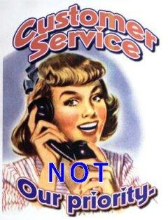 terrible customer service