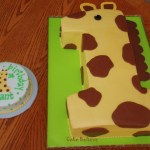 Super Cute Giraffe cake. I almost went with a Giraffe theme because of this cake.