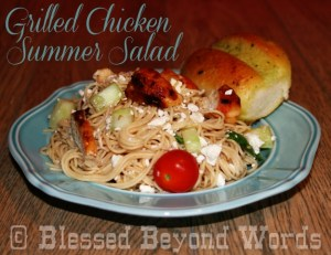 Hodgson Mill's Summer Pastabilities: Grilled Chicken Summer Salad #Sponsored #Giveaway Ends 8/31