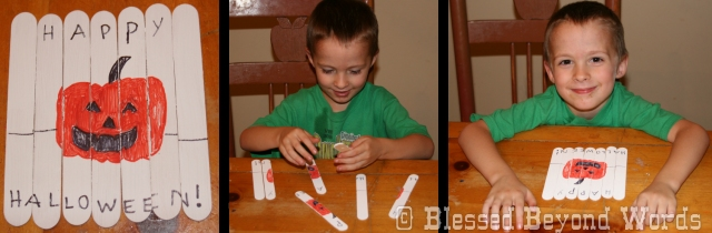 halloween popsicle puzzle craft