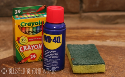 WD40 to remove crayon
