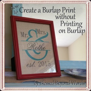 #Sponsored: Create a Burlap Print without Printing on Burlap @MyPrintly #CMYK #HPSmartMom