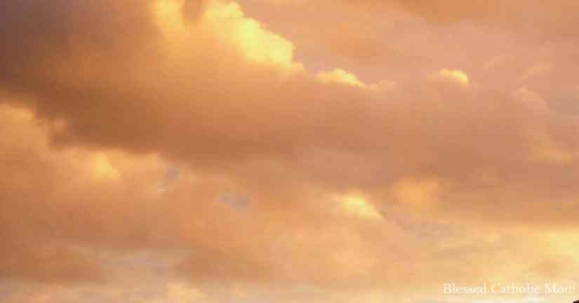 Learn to be greatful for the nature around us. Image of an orangish, cloudy evening sky at sunset.
