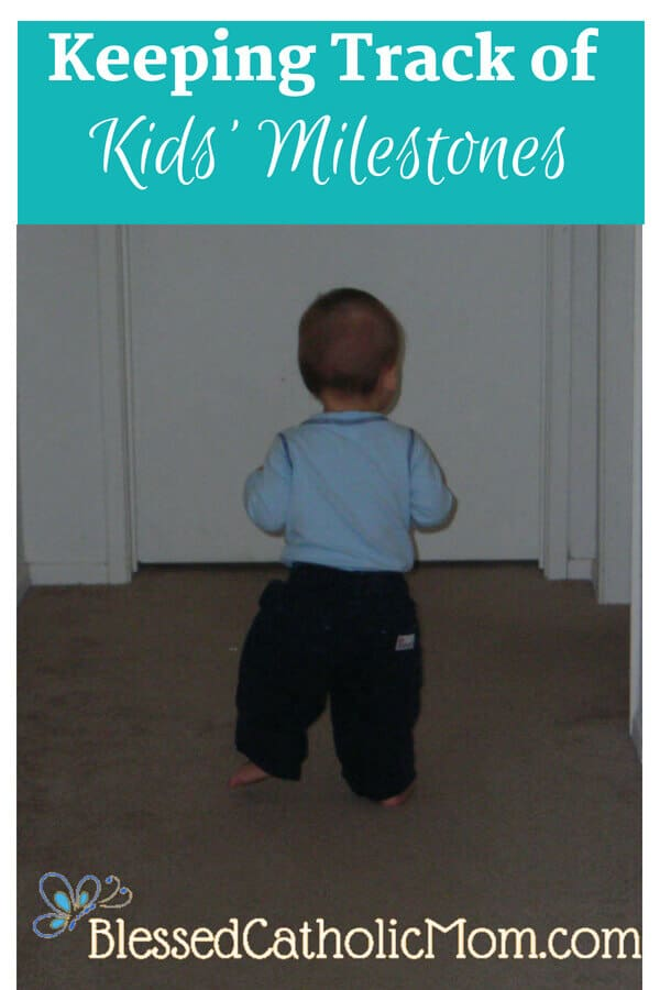 Keeping track of kids' milestones is not as difficult as it seems. Image of a young child walking down a hallway.