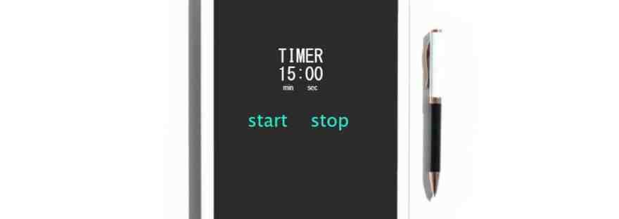 My friend, the timer-managing my day with a the aid of a timer. Image of a timer set for 15 minutes.