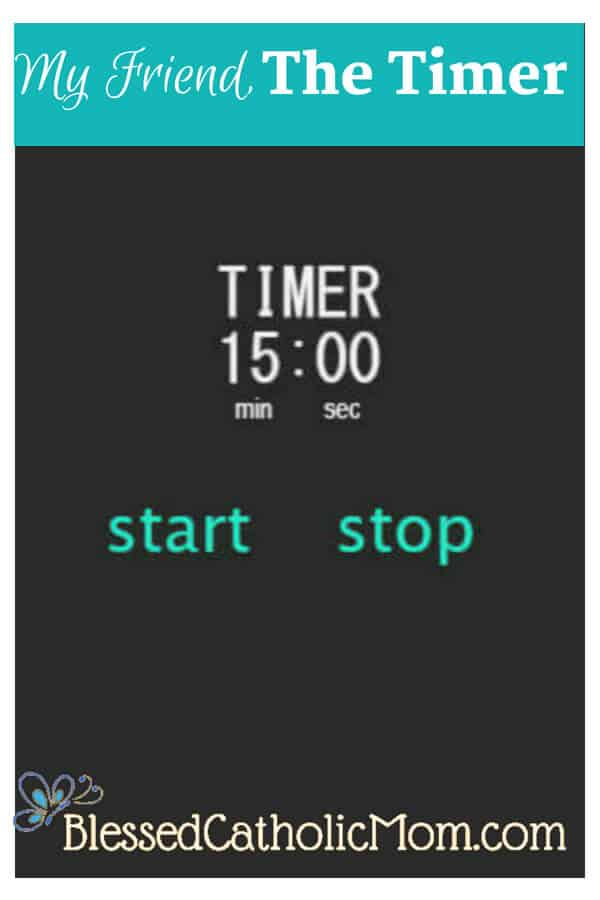 Use a timer to be productive and get things done. Image of a timer set for 15 minutes.