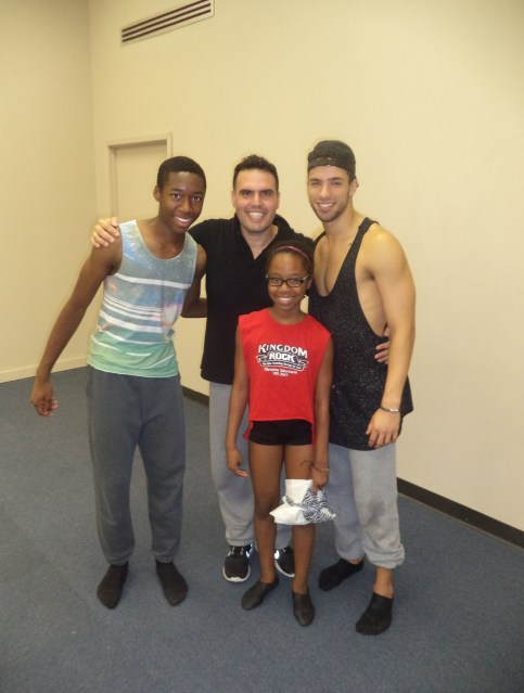 micah and savannah with dance mom miami stars