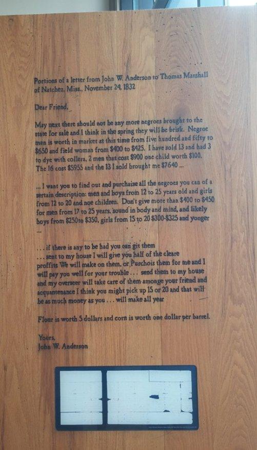 letter from natchez mississippi slaveowner