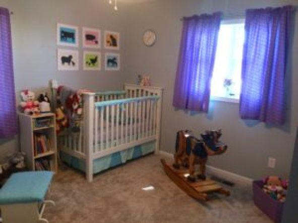 pastel farm animal nursery on a budget