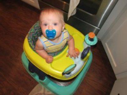 baby in Safety First walker