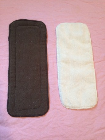 Charcoal bamboo insert and a microfiber insert
