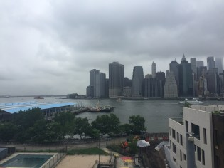 The view of Manhattan from Brooklyn Heights.