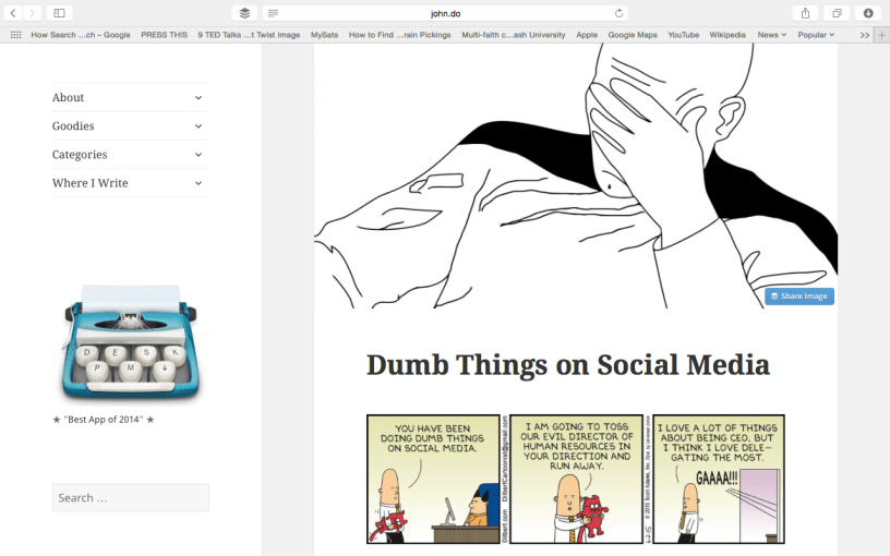 Dumb Things on Social Media via John Saddington