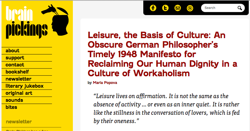 Leisure, the Basis of Culture: Making Sense Of Managing Life And Work